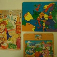 Puzzles: LOTE DE 3 PUZZLES INFANTILES .. Lote 41123811