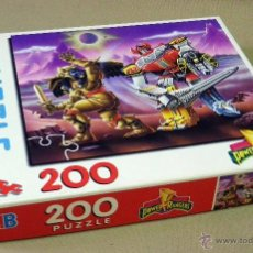 Puzzles: PUZZLE, POWER RANGERS, 200 PIEZAS, COMPLETO, SIN USAR, MB, 1994, HASBRO. Lote 41422271