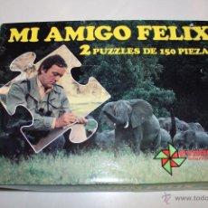 Puzzles: BBB MI AMIGO FELIX 2 PUZZLES DE 150 PIEZAS EVERDIDAC INCOMPLETOS AÑOS 80. Lote 43145335