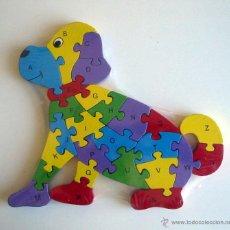 Puzzles: PUZZLE DE MADERA. PERRO. PUZLE DE LETRAS Y NÚMEROS.. Lote 138533676
