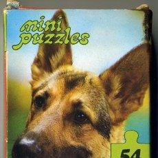 Puzzles: MINI PUZZLES - DIDACTA - PERRO PASTOR ALEMAN - 54 PIEZAS - 12'5X17'5CM - AÑOS 70. Lote 43917159