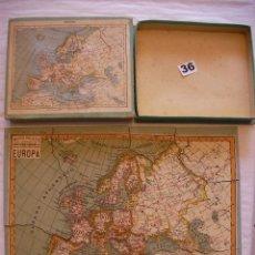 Puzzles: ANTIGUO PUZZLE MAPA DE EUROPA - MAPA PALUZIE EDIT. IMPRENTA ELZEVIRIANA Y LIBRERIA CAMI EN SU CAJA. Lote 43998509