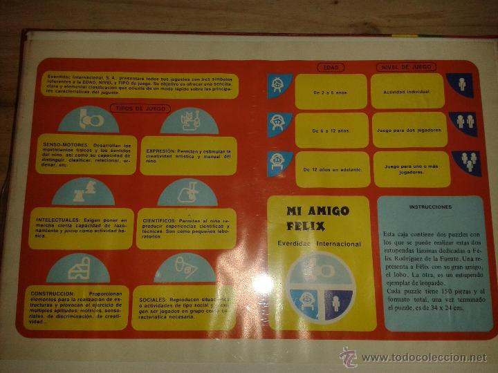 Puzzles: Puzzle *Mi amigo Felix*.Everdidac Internacional. Años 70-80.Nuevo.Precintado - Foto 2 - 44701895