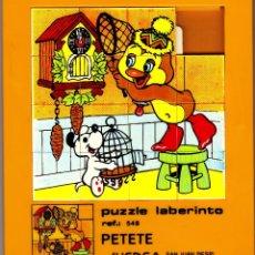 Puzzles: PUZZLE LABERINTO.PETETE.AÑOS 80.JUEDSA.. Lote 120507155
