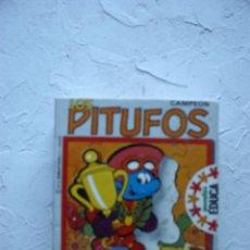 Puzzles: CAJA DE PUZLE EN MADERA DE LOS PITUFOS: CAMPEÓN. Lote 45291499
