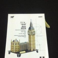 Puzzles: PUZZLE 3D - BIG BEN - 66 PIEZAS - COMPLETO - CAR55. Lote 45303218