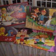 Puzzles: ANTIGUO PUZLE DE CUBOS CARTON. Lote 46021126