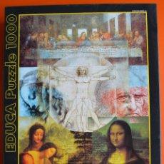 Puzzles: PUZZLE DE 1000 PIEZAS . ART COLECTION - LEONARDO DA VINCI - LA GIOCONDA - LA ULTIMA CENA. Lote 158089992