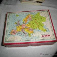 Puzzles: ANTIGUO PUZLE DE CUBOS DE CARTON MAPA DE EUROPA,ESPAÑAY PORTUGAL.OCEANIA,AFRICA,ASIA,AMERICA. Lote 46333775