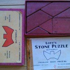 Puzzles: ANTIGUO LOTT'S STONE PUZZLE. ROMPECABEZAS BUTTERFLY DE BARRO COCIDO DE LADRILLOS DE LOTT LTD. Lote 48303313