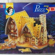 Puzzles: PUZZ 3D LA CASA DE BLANCANIEVES HASBRO MB DISNEY`S 1997. Lote 48867215