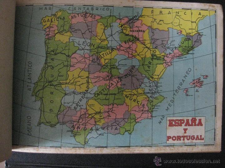 5 BONITAS LAMINAS DE MAPAS PARA ROMPECABEZAS DE NIÑOS. AÑOS 50 (Juguetes - Juegos - Puzles)