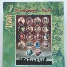 Puzzles: PUZLE EL SEÑOR DE LOS ANILLOS. LA COMUNIDAD DEL ANILLO - 1500 PIEZAS - RAVENSBURGER PUZZLE - NUEVO. Lote 163804156