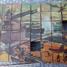 Puzzles: ANTIGUO PUZZLE DE CUBOS -MOTIVOS BÉLICOS GRANDES BATALLAS-. Lote 49402766