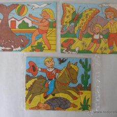 Puzzles: TRES PEQUEÑOS PUZLES , KIOSKO AÑOS 70 , BOLSAS CERRADAS. Lote 50316645