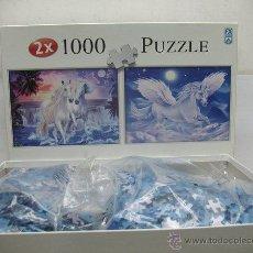Puzzles: FX SCHMID - 2 PUZLES DE 1000 PIEZAS CADA UNO DE CABALLOS ROMÁNTICOS. Lote 50419854