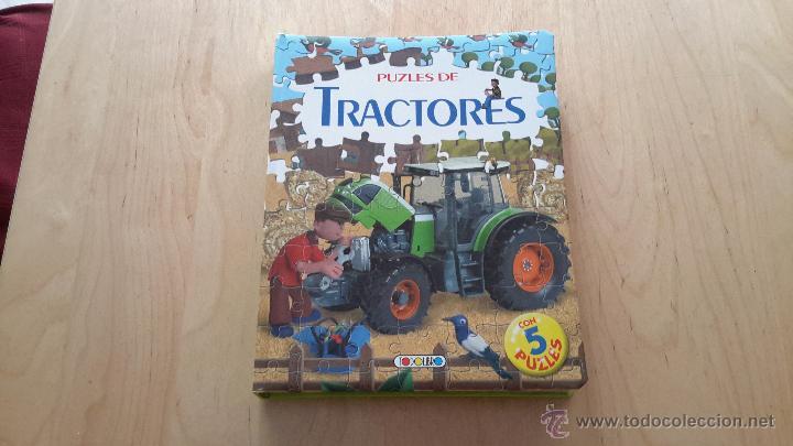 LIBRO PUZZLES DE TRACTORES CON 5 PUZZLES DE 24 PIEZAS CADA UNO COMPLETO (Juguetes - Juegos - Puzles)