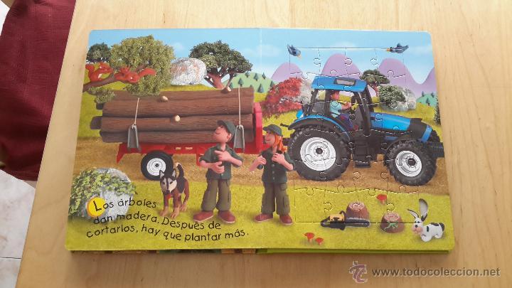 Puzzles: Libro puzzles de tractores con 5 puzzles de 24 piezas cada uno completo - Foto 2 - 137461685