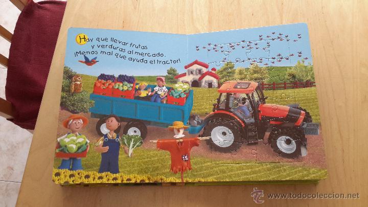 Puzzles: Libro puzzles de tractores con 5 puzzles de 24 piezas cada uno completo - Foto 3 - 137461685