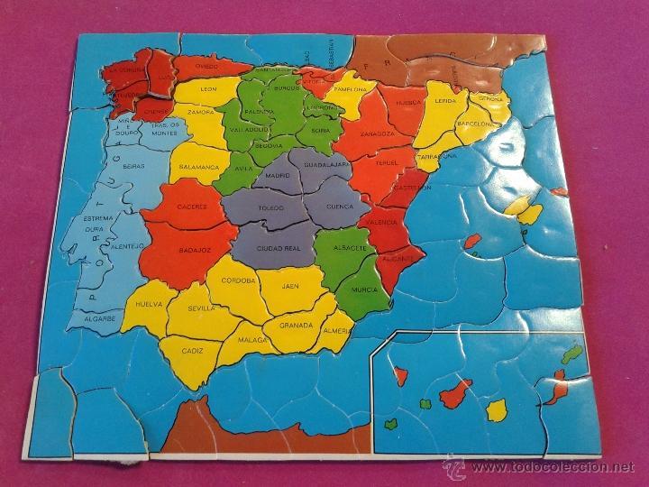 Puzzle mapa de espa a de corcho comprar puzzles antiguos en todocoleccion 50734765 - Mapa de corcho ...
