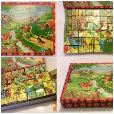 Puzzles: ROMPECABEZAS, PUZZLE FINALES AÑOS 30 EN MUY BUEN ESTADO. 48 CUBOS Y 6 FIGURAS SANTA MARIA. Lote 51584109
