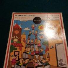 Puzzles: ELS CASTELLERS - EL TRENCACLOSQUES - EDICIONS EL MIRADOR - 48 PECES - DIBUIX VICENÇ PAÑELLA (PUZLE). Lote 52338480