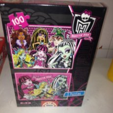 Puzzles: MONSTER HIGH 2 PUZZLES. Lote 52350372
