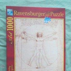 Puzzles: PUZZLE RAVENSBURGER HOMBRE DE VITRUBIO LEONARDO DA VINCE 1000 PIEZAS 50X70 CM.. Lote 52436994