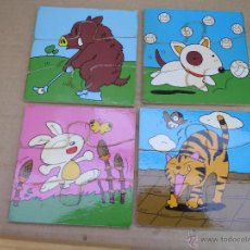 Puzzles: 4 ANTIGUOS PUZZLE EN MADERA Y UNA CAJA PARA GUARDARLES MIRA LAS FOTOS. Lote 52871064