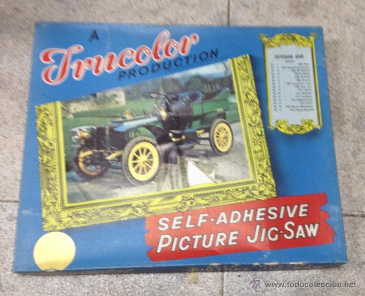 TRUCOLOR. PICTURE JIG-SAW. VETERAN CAR. PUZZLE COCHE ANTIGUO. Nº 3. 1902. DE DIETRICH (Juguetes - Juegos - Puzles)