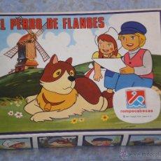ROMPECABEZAS EL PERRO DE FLANDES Nº 665 . DALMAU CARLES PLA S.A ( ESPAÑA ) AÑO 1977 . SUS 6 LAMINAS