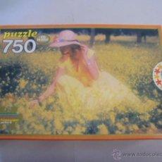 PUZZLE EDUCA 750 PIEZAS - MUCHACHA EN EL CAMPO - 50x43 CMS - AÑOS 70/80 - PRECINTADO TODAVIA
