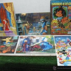 Puzzles: LOTE DE SEIS PUZLES DE DISNEY MERLÍN EL ENCANTADOR Y DE LA FAMILIA TELERÍN. Lote 53719462