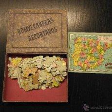 Puzzles: ROMPECABEZAS RECORTADOS PUZZLE, ESPAÑA, EUROPA Y AFRICA AÑOS 50. Lote 54281617
