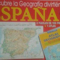 Puzzles: PUZZLE DESCUBRE LA GEOGRAFÍA DIVIRTIENDOTE, DE EDUCA. Lote 54427638