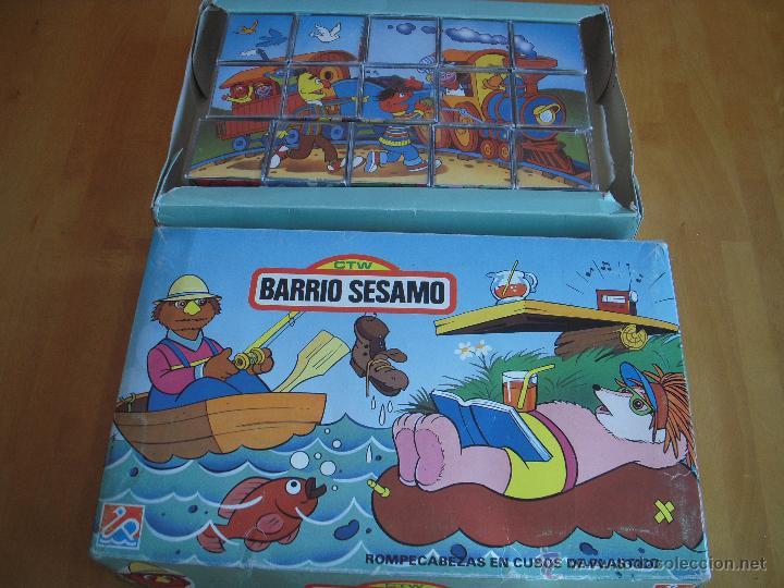ROMPECABEZAS PUZZLE EN CUBOS DE PLÁSTICO. BARRIO SESAMO (Juguetes - Juegos - Puzles)