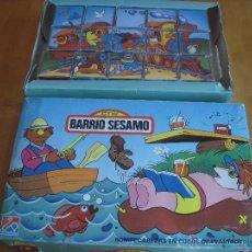 Puzzles: ROMPECABEZAS PUZZLE EN CUBOS DE PLÁSTICO. BARRIO SESAMO. Lote 54648111