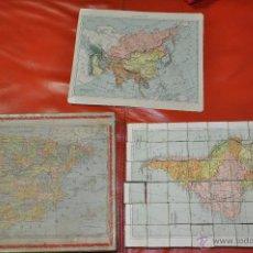 Puzzles: ROMPECABEZAS MAPA CON CUBOS , 5 LAMINAS MAS CAJA , DE 1925 APROXIMADAMENTE . Lote 54693780