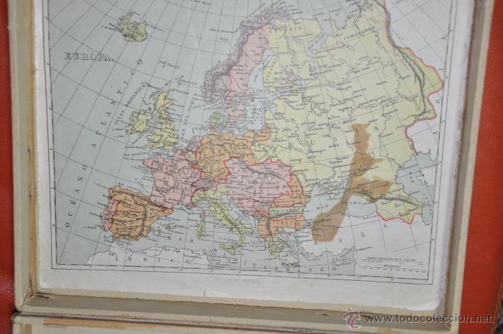 Puzzles: ROMPECABEZAS MAPA CON CUBOS , 5 LAMINAS MAS CAJA , DE 1925 APROXIMADAMENTE - Foto 2 - 54693780