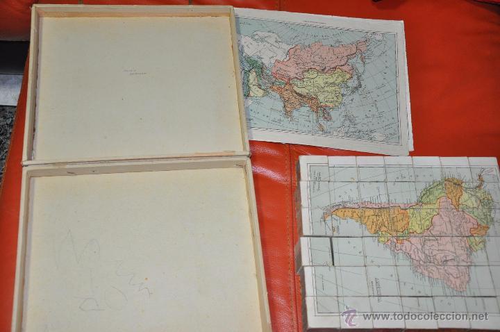 Puzzles: ROMPECABEZAS MAPA CON CUBOS , 5 LAMINAS MAS CAJA , DE 1925 APROXIMADAMENTE - Foto 3 - 54693780