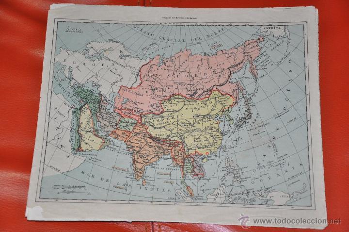 Puzzles: ROMPECABEZAS MAPA CON CUBOS , 5 LAMINAS MAS CAJA , DE 1925 APROXIMADAMENTE - Foto 4 - 54693780