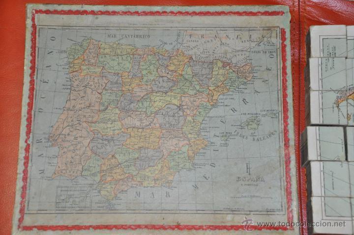 Puzzles: ROMPECABEZAS MAPA CON CUBOS , 5 LAMINAS MAS CAJA , DE 1925 APROXIMADAMENTE - Foto 6 - 54693780