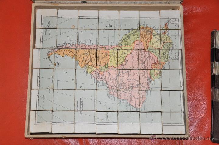 Puzzles: ROMPECABEZAS MAPA CON CUBOS , 5 LAMINAS MAS CAJA , DE 1925 APROXIMADAMENTE - Foto 8 - 54693780
