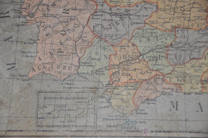 Puzzles: ROMPECABEZAS MAPA CON CUBOS , 5 LAMINAS MAS CAJA , DE 1925 APROXIMADAMENTE - Foto 9 - 54693780