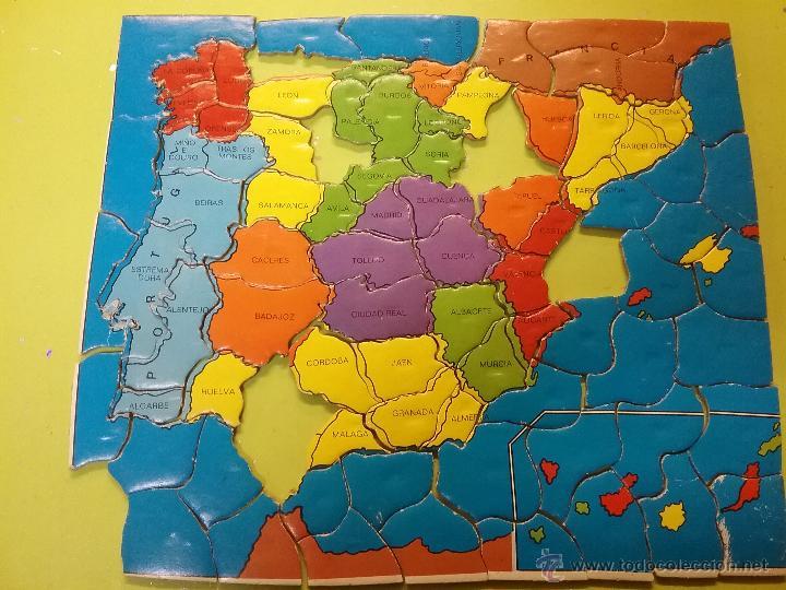Rompecabezas de corcho con imanes mapa espa a a comprar puzzles antiguos en todocoleccion - Mapa de corcho ...
