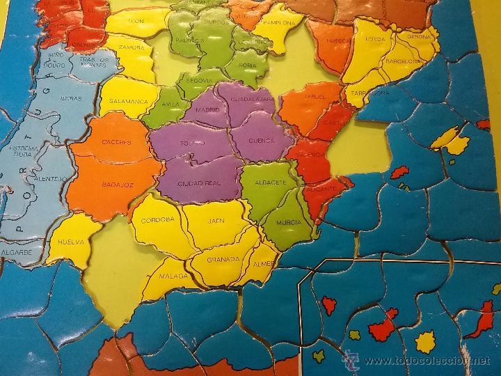 Rompecabezas De Corcho Con Imanes Mapa España A
