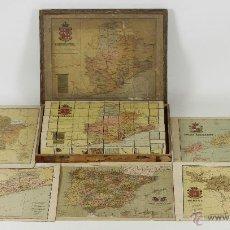 Puzzles: PUZLE. 6 MAPAS DE ESPAÑA. EDIT. ALBERTO MARTIN. BENITO CHIAS. SIGLO XIX-XX.. Lote 54470055