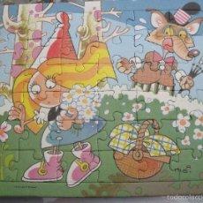 Puzzles: PUZZLE CARTON CAPERUCITA ROJA FIRMADO ALBA 1992, A ESTRENAR. Lote 55349419