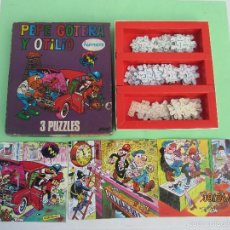 Puzzles: PEPE GOTERA Y OTILIO, UN JUEGO CON 3 PUZZLES, PAPIROTS / BRUGUERA AÑO 1975 PUZLE PUZZLE. Lote 56015205