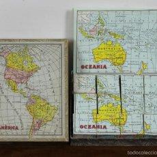 Puzzles: PUZZLE ENRIQUE BORRAS. ESPAÑA Y CONTINENTES. 6 PUZZLES. CIRCA 1960. . Lote 56549288